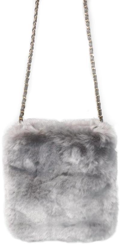Gray Fur Pouch