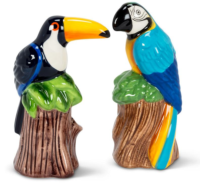 Toucan Parrot Salt and Pepper Shakers