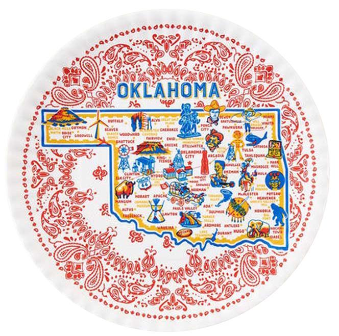 Oklahoma Melamine Plate