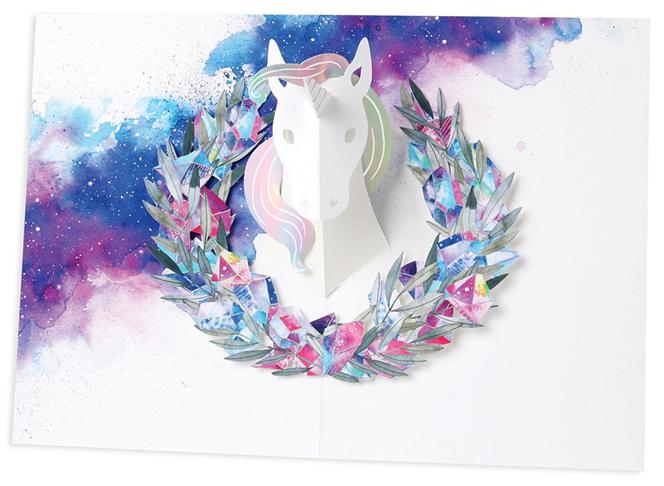 Unicorn Pop-Up Greeting Card