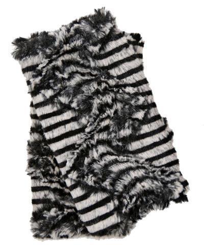 Faux Fur Zebra Gloves