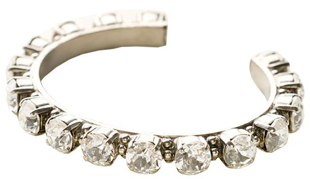 Riveting Romance Cuff Bracelet - Clear Crystals