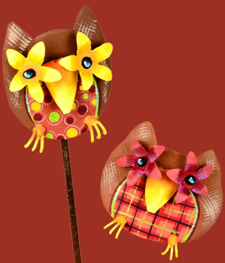 Owl Stake and Wallhanging