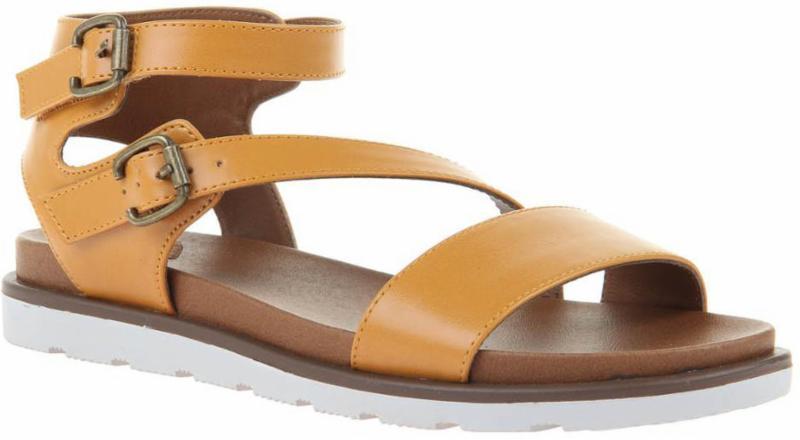 Wheat Flat Sandal