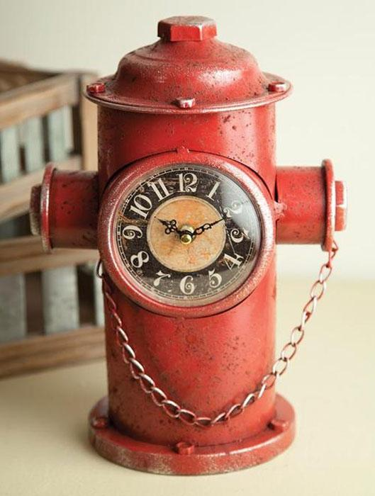 Fire Hydrant Table Clock