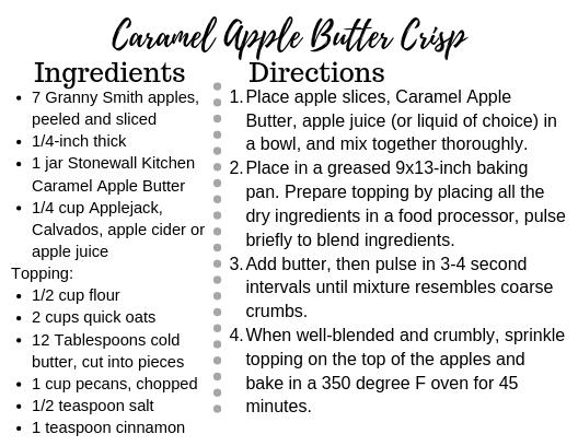 Caramel Apple Butter Crisp