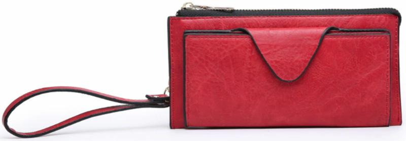 Red Flap Wallet