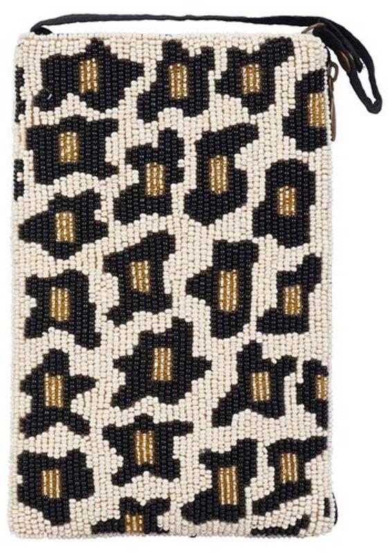Beaded Leopard Crossbody