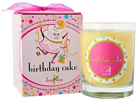 Birthday Cake Candle in Glass