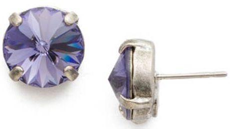 Radiant Rivoli Tanzanite Stud Earrings