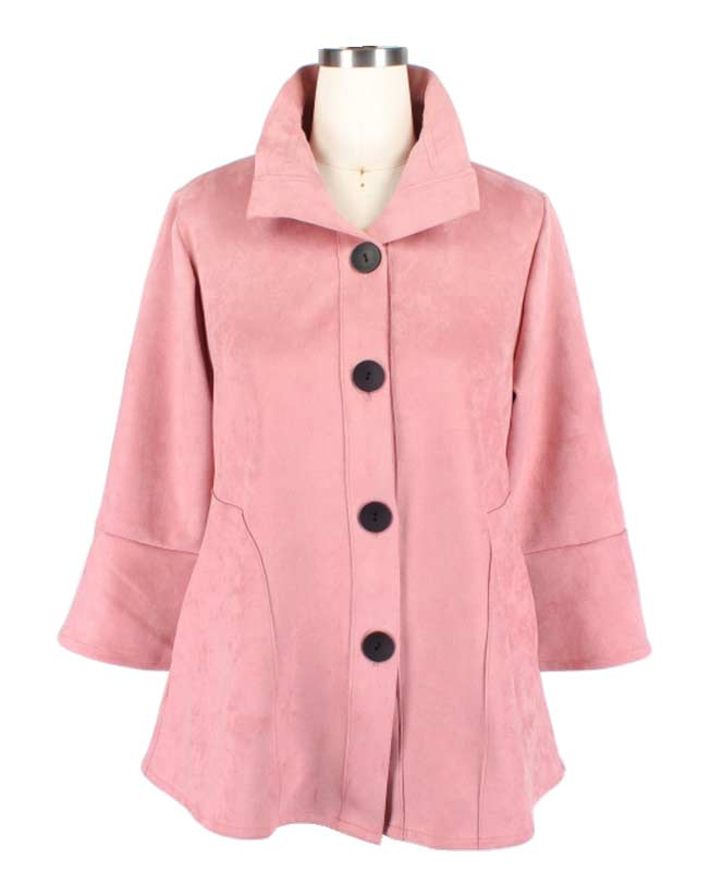 Pink Suede Fabric Jacket