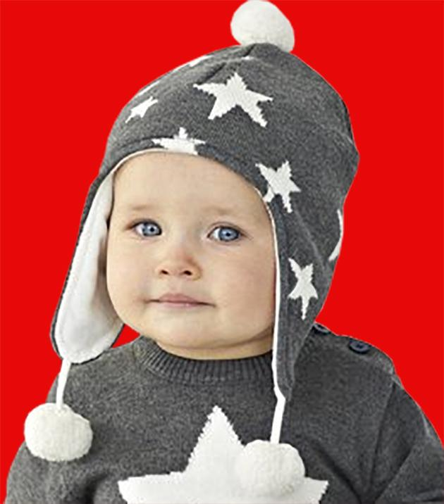 Star Aviator Knit Hat