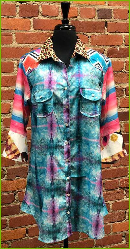 Feather Silky Shirt