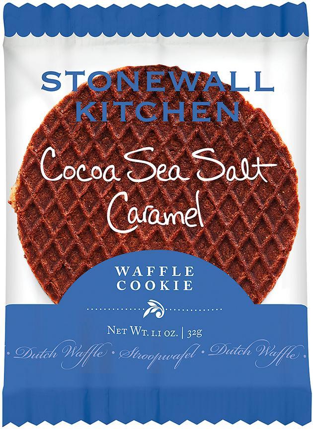 Stonewall Kitchen Cocoa Sea Salt Caramel Waffle Cookie