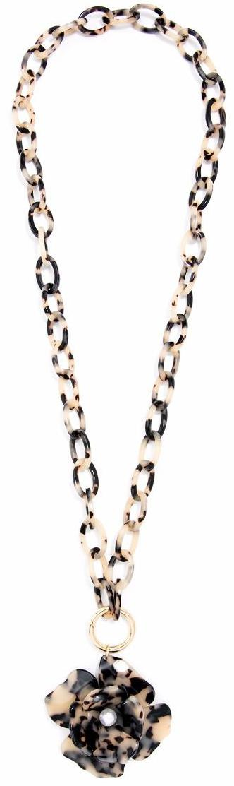 Black and Tan Blooming Necklace