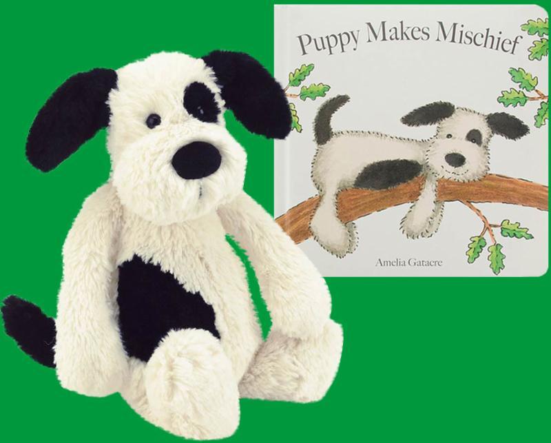 Jellycat - Puppy Makes Mischief