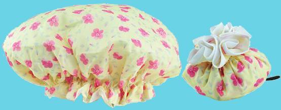 Flower shower cap