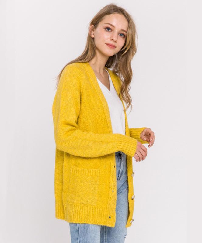 Yellow Oversized Cardigan