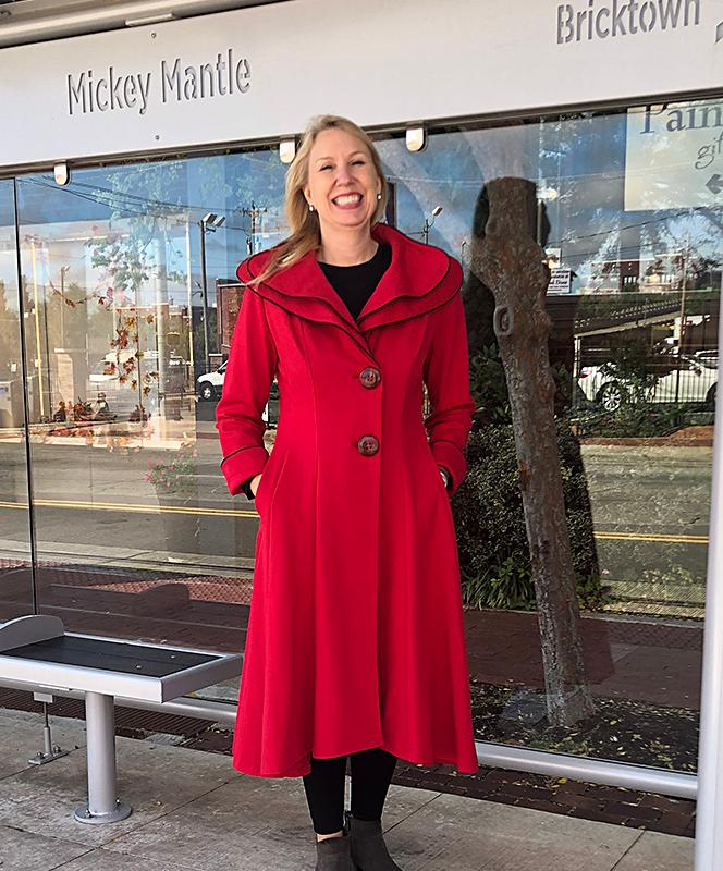 Red with Black Piping Long Coat