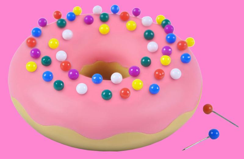 Desk Donut Push Pins _ Holder