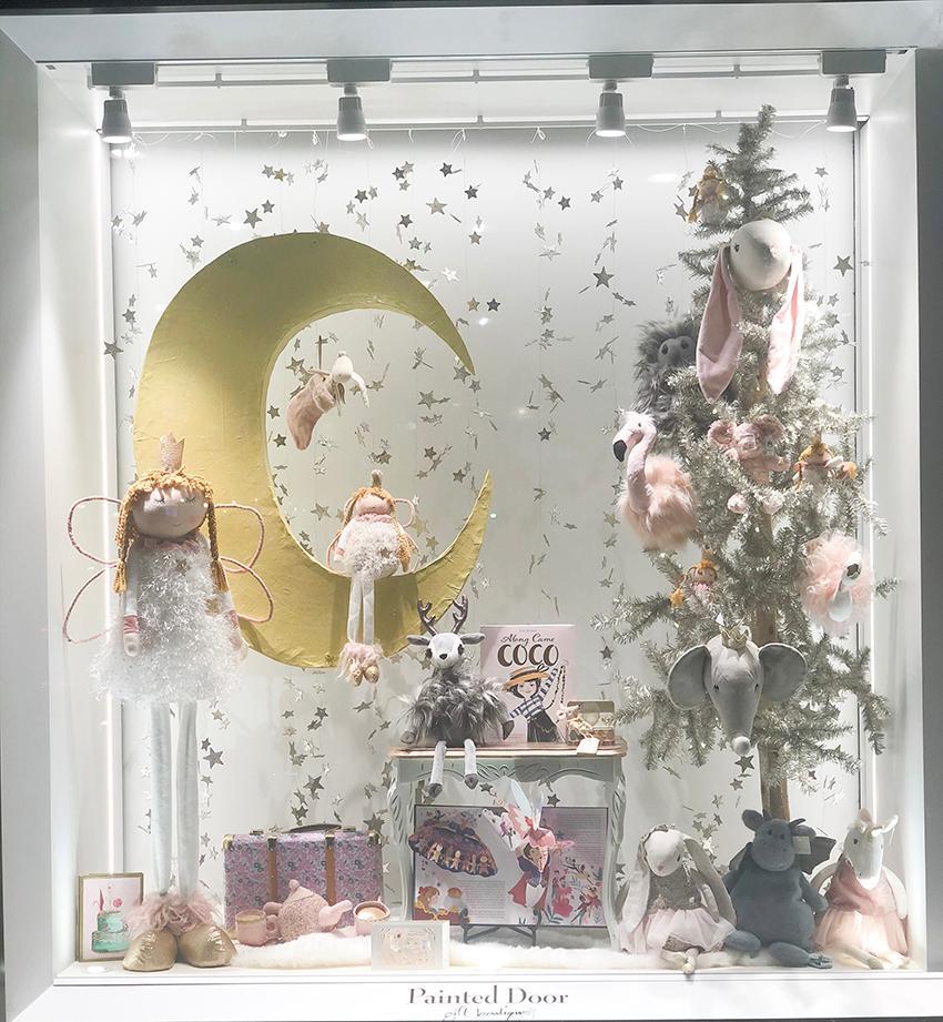 Painted Door Window Display