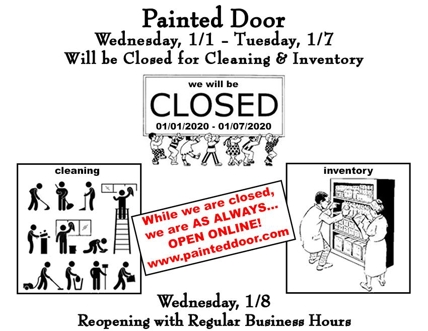 Painted Door Closed for Cleaning & Inventory