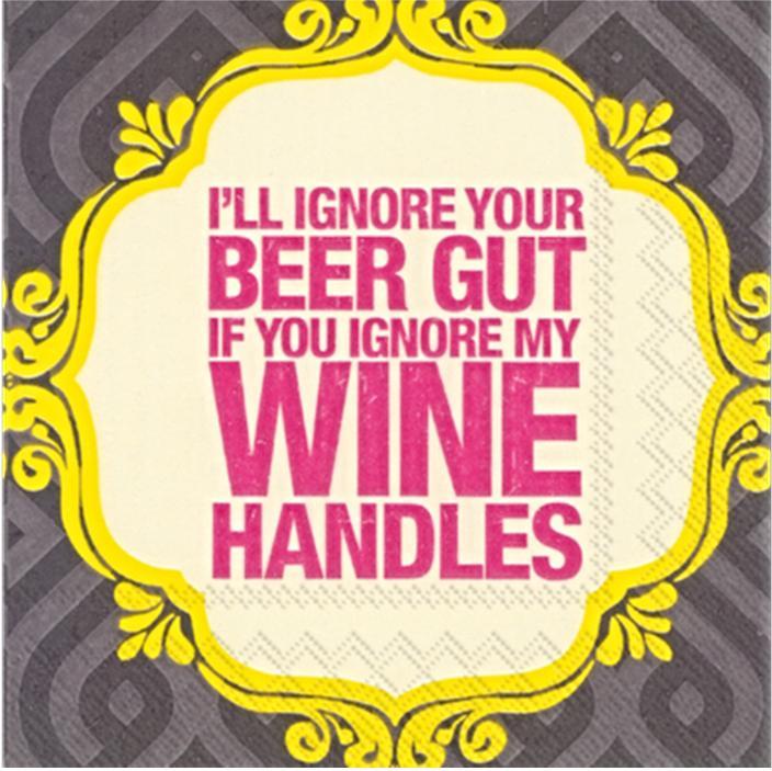 Beverage Napkin - I_ll ignore your beer gut