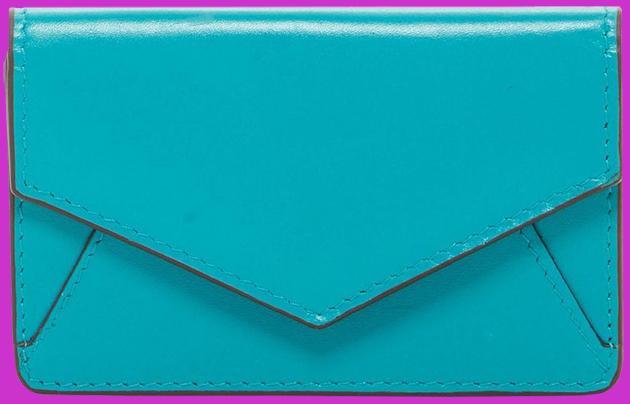 Turquoise Envelope Card Wallet