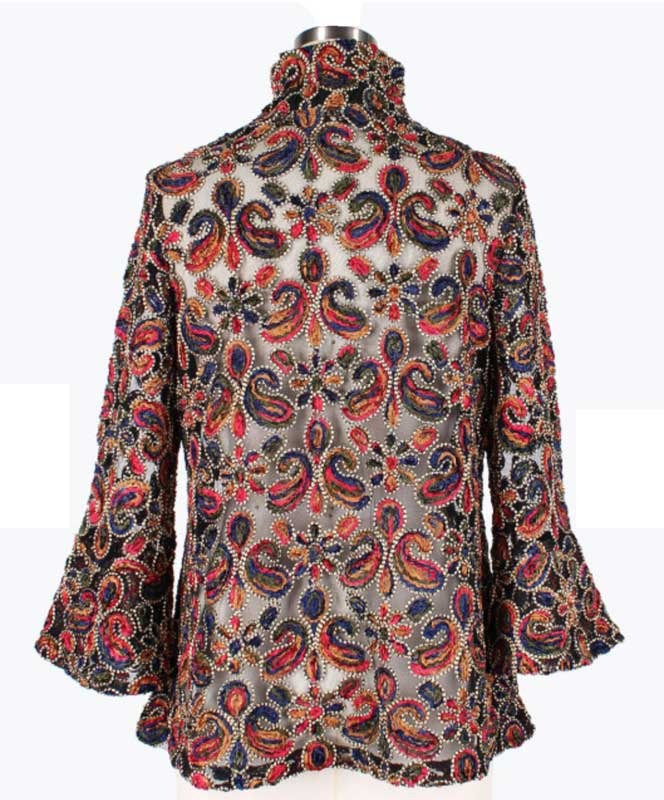 Embroidered Floral Paisley Jacket