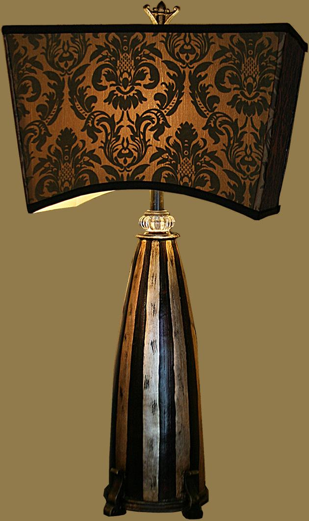 Brown and Black Lamp