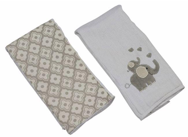 Elephant Burp Cloth Set