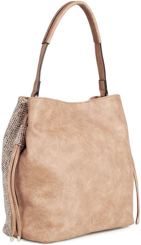 Natural Tweed Bucket Bag