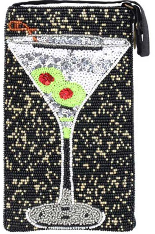 Beaded Martini Crossbody