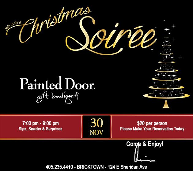 Painted Door Christmas Soiree