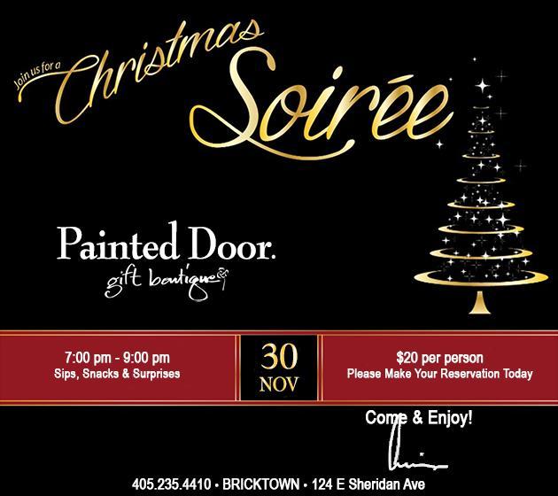 Painted Door Christmas Soiree