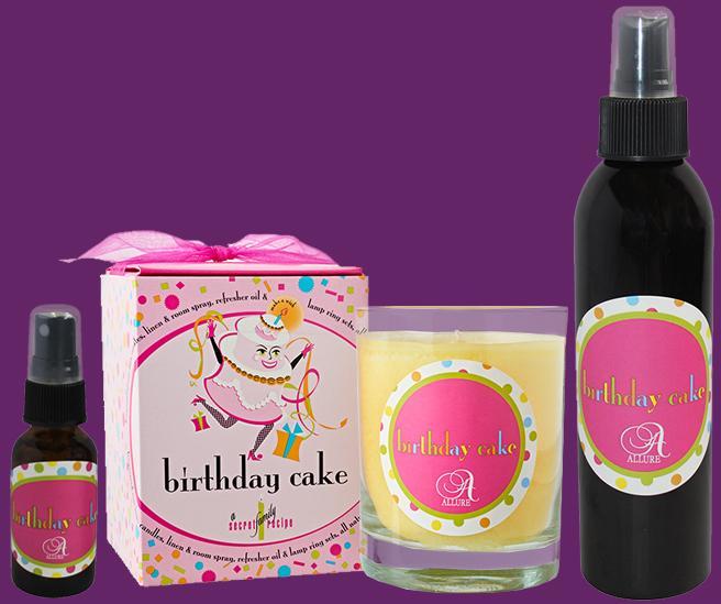 Birthday Cake Candle & Spray