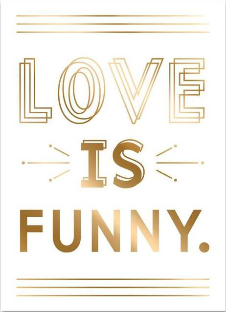 Greeting Card - Love is Funny