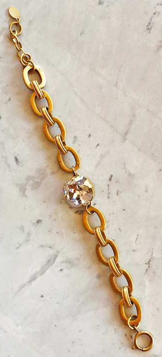 Chain with Clear Stone Bracelet