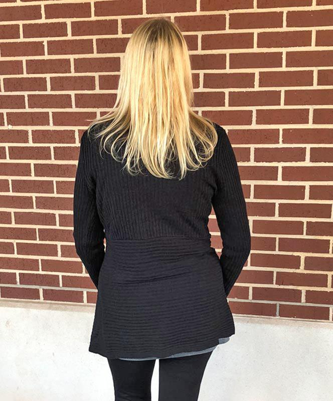 Black Sweater with Front Clasp