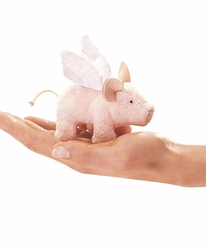 Folkmanis - Winged Mini Piglet Puppet