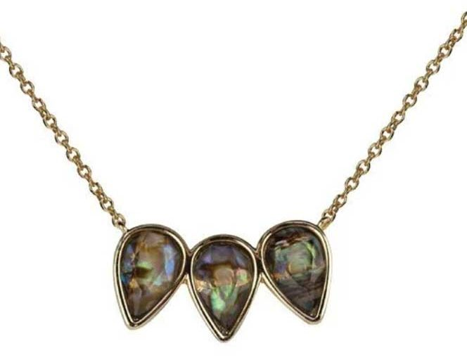 Abalone Pear Trio Necklace