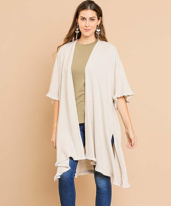Oatmeal Linen Kimono
