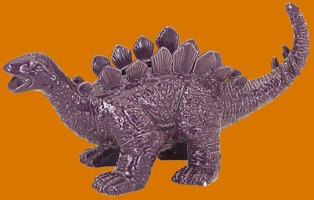 Purple dino planter
