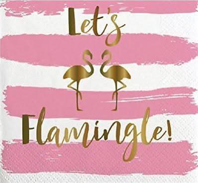 Slant Napkin - Let's Flamingle