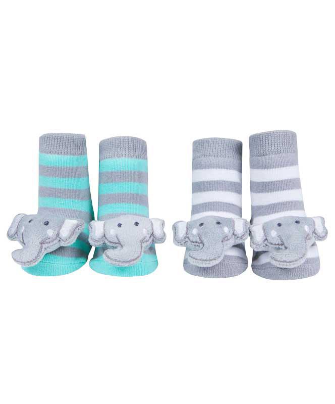 Elephant Rattle Socks
