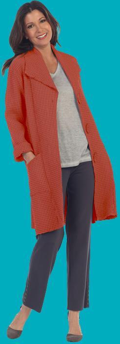 Orange Long Coat