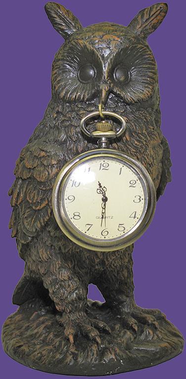 Owl with Pocket Watch