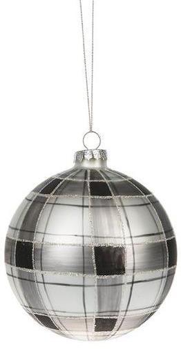 Black Plaid Ornament
