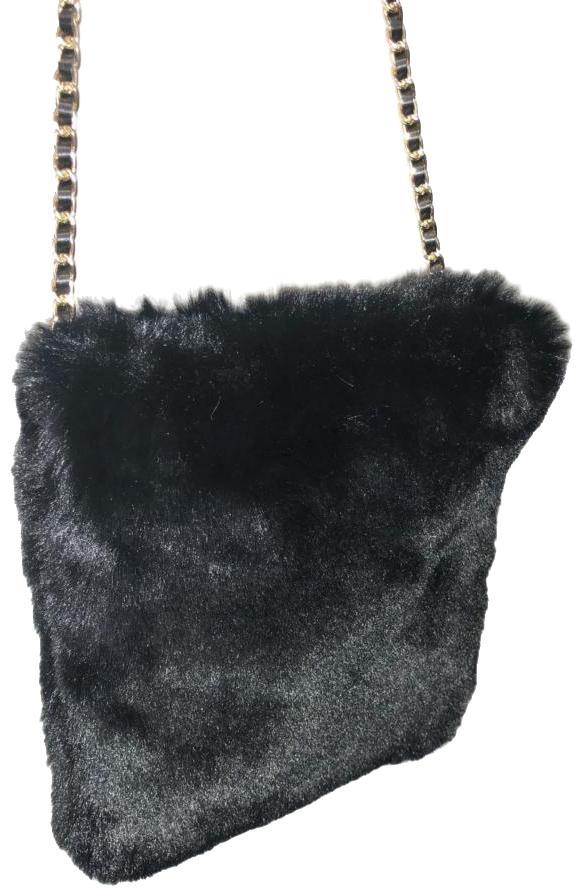 Black Fur Pouch