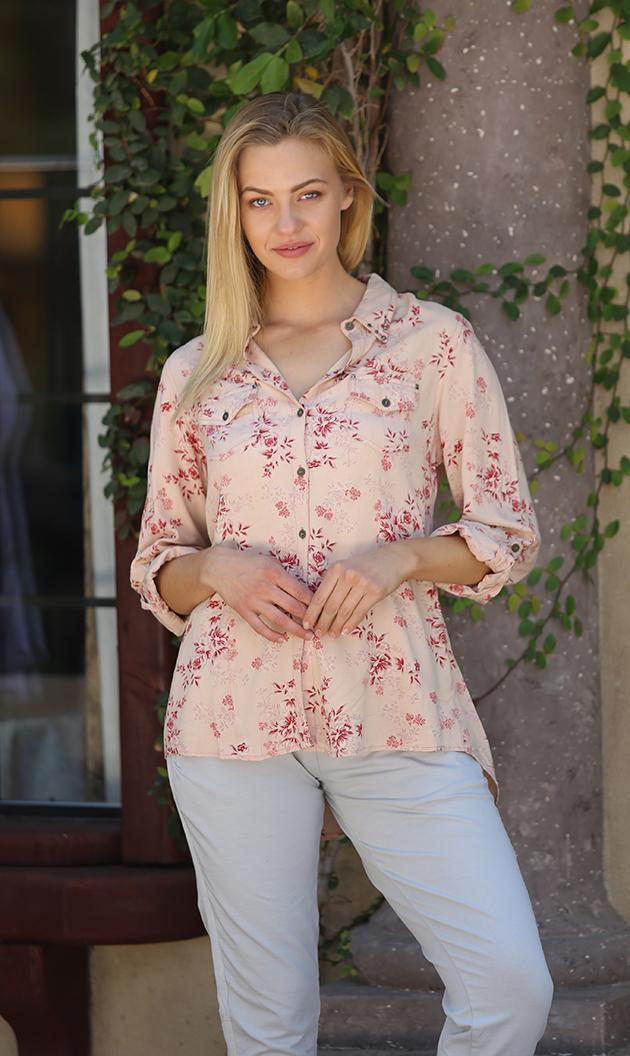 Floral Top with Tie Back
